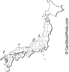 Map japan Vector Clipart Royalty Free 3055 Map japan clip art