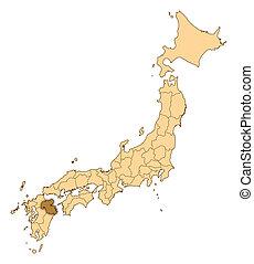 Map - Japan, Oita