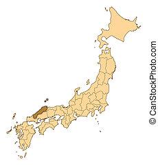 Map - Japan, Shimane