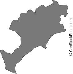 Map - Jutiapa (Guatemala)
