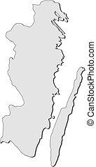 Map - Kalmar County (Sweden)