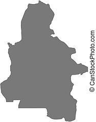 Map - Kasai-Occidental (Democratic Republic of the Congo) - ...
