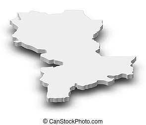 Map - Kasai-Oriental (Democratic Republic of the Congo) - 3D...