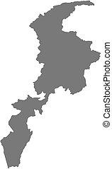Map - Khyber Pakhtunkhwa (Pakistan)