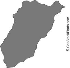 Map - Lavalleja (Uruguay)