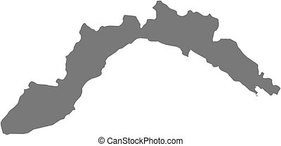 Map - Liguria (Italy) - Map of Liguria, a province of Italy.