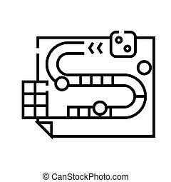 Map line icon, concept sign, outline vector illustration, linear symbol.