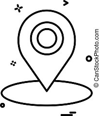 map location gps icon vector design