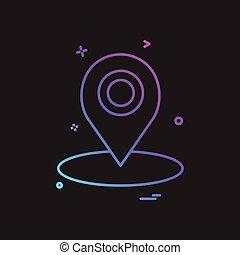 map location gps icon vector design