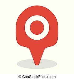 Map location icon, GPS travel marker vector design