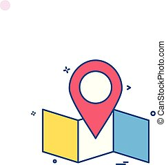 map location navigation icon vector desige