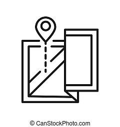 map location vector illustration design