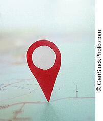 Map locator point