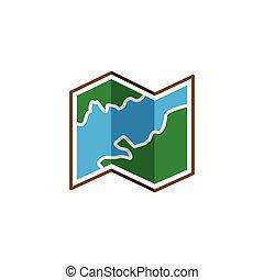 map logo icon vector template