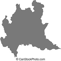 Map - Lombardy (Italy) - Map of Lombardy, a province of...