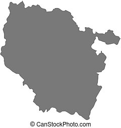 Map of Lorraine, a province of France.