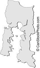 Map - Los Lagos (Chile)