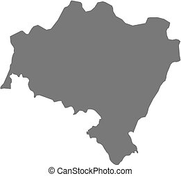 Map of Lower Silesian, a province of Poland.