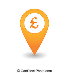 Map mark icon - Illustration of a map mark icon