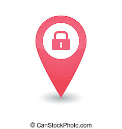 Map mark with icon