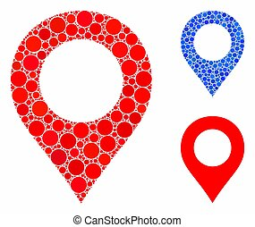 Map marker Composition Icon of Circle Dots