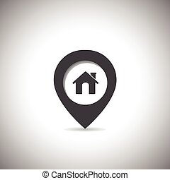 map marker home icon