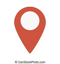 Map Marker Icon on white background. Vector illustration