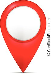 Map marker on a white background.