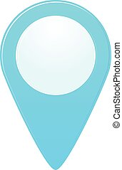 Map marker - Vecor isolated map marker blue