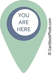 Map marker - Vecor isolated map marker blue simple