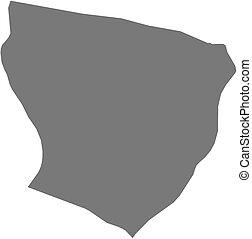 Map - Marowijne (Suriname)