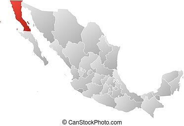 Map - Mexico, Baja California - Map of Mexico with the...