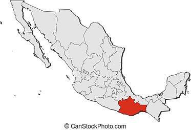map mexico oaxaca