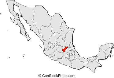 Map of queretaro mexico 3d drawings Search Clipart Illustration
