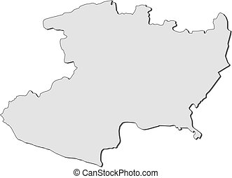 Map Of Michoacan Mexico Vector Map Of Michoacan With Coat - Michoacan mexico map