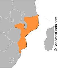 Map - Mozambique