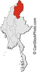 Map - Myanmar, Kachin