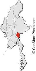 Map - Myanmar, Kayah