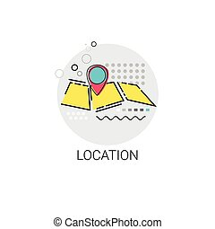 Map Navigation Location Position Icon