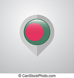 Map Navigation pointer with Bangladesh flag design vector