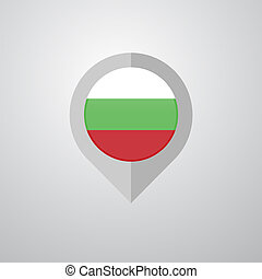 Map Navigation pointer with Bulgaria flag design vector