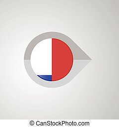 Map Navigation pointer with Chile flag design vector