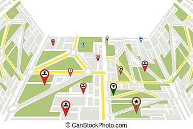 map Navigation vector illustration.
