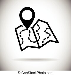 Map Navigation Web Icon