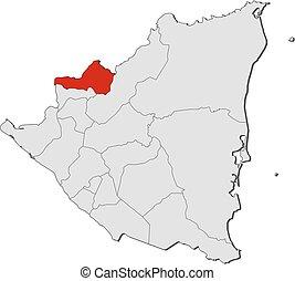 Map - Nicaragua, Nueva Segovia