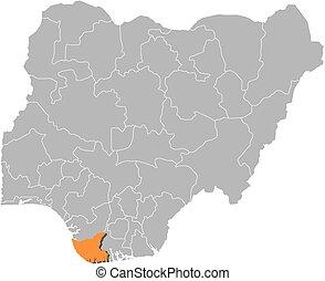 Map - Nigeria, Bayelsa
