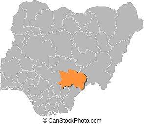 Map - Nigeria, Benue