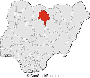 Map kano nigeria Map of kano a province of nigeria vector