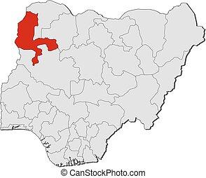 Map - Nigeria, Kebbi