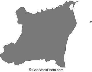 Map - North Caribbean Coast Autonomous Region (Nicaragua)